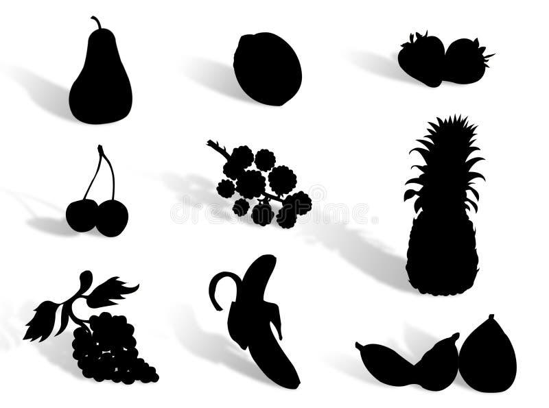 Fruchtschattenbild vektor abbildung