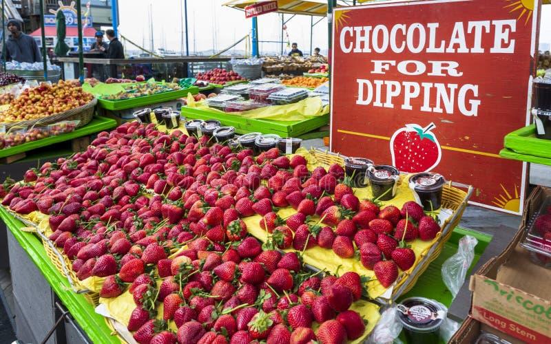 Fruchtstand in Fishermans-Kai, San Francisco, Kalifornien, die Vereinigten Staaten von Amerika, Nordamerika stockfoto