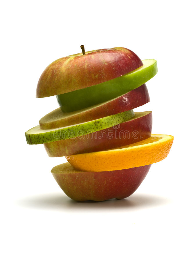 Fruchtstapel getrennt lizenzfreies stockbild