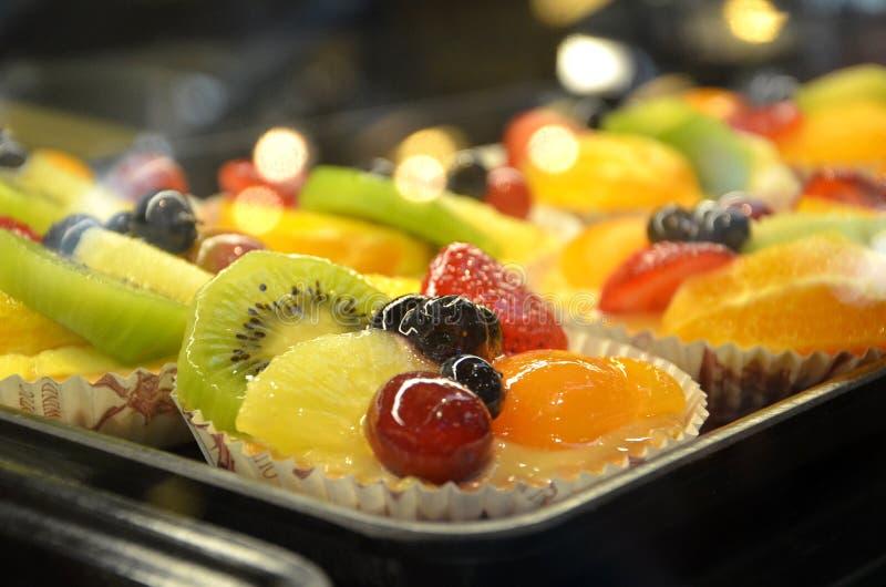 Fruchttörtchennachtisch lizenzfreies stockfoto