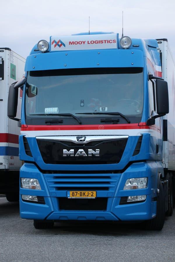 Fruchttransportunternehmen Mooy-Logistik in Waddinxveen die Niederlande wurde Konkurs stockbilder
