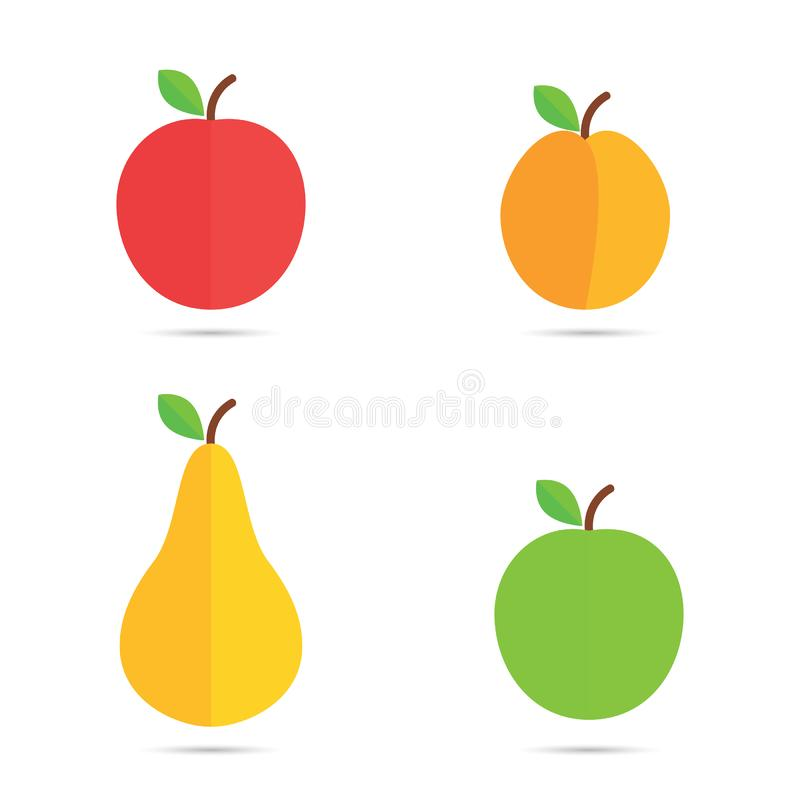 Fruchtvektorikonen stockbilder