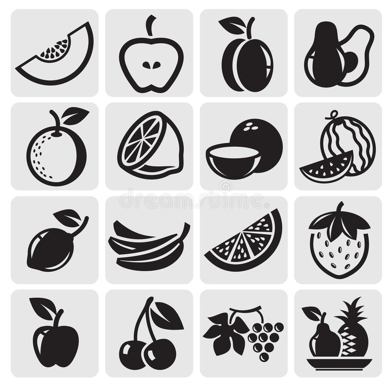 Fruchtvektorset lizenzfreie abbildung