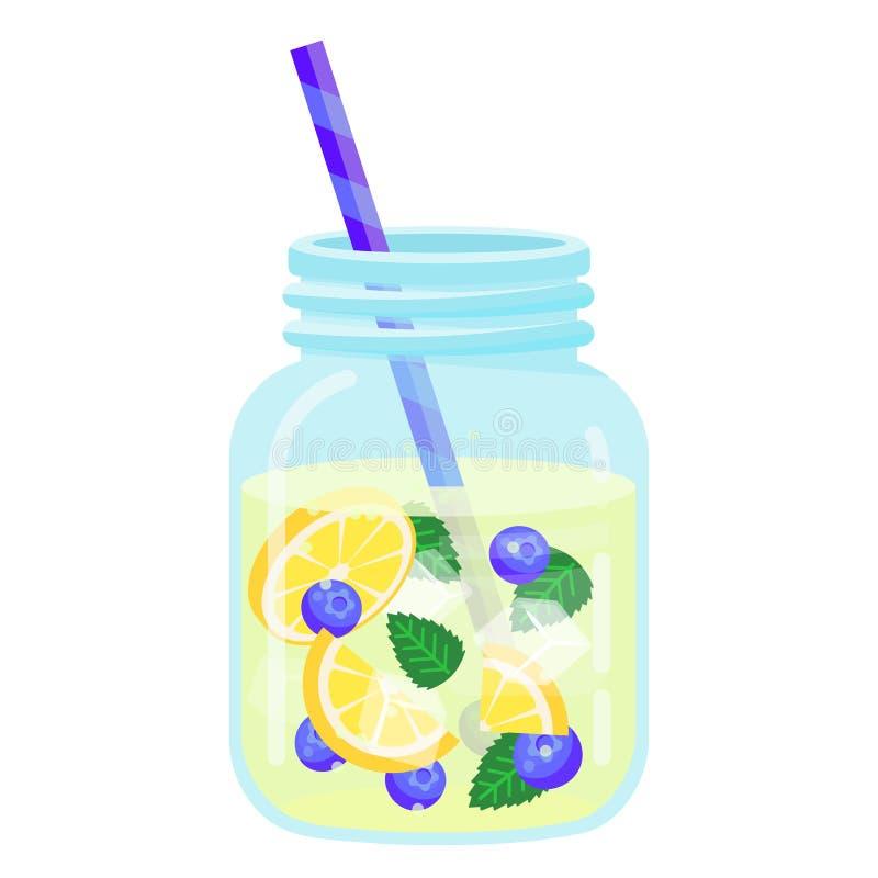 Fruchtwasserikone, natürliche Frische und Erfrischung lizenzfreie abbildung