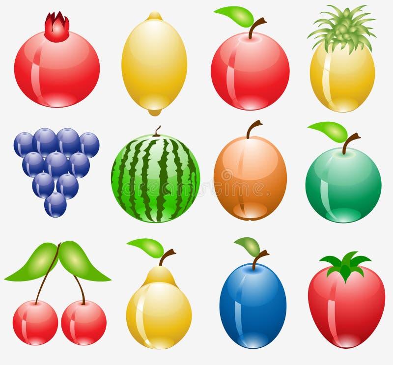 Fruchtweb-Ikone Lizenzfreie Stockfotografie