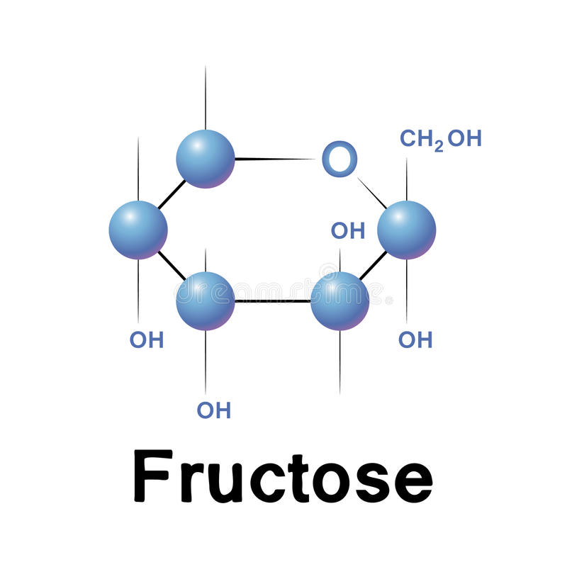 Free Fructose Molecule Royalty Free Stock Images - 40168389