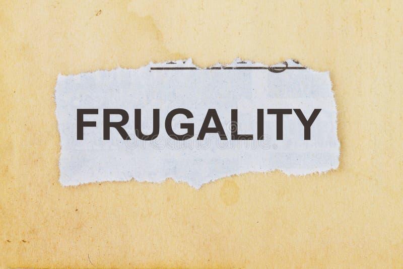 frugalidad imagen de archivo libre de regalías