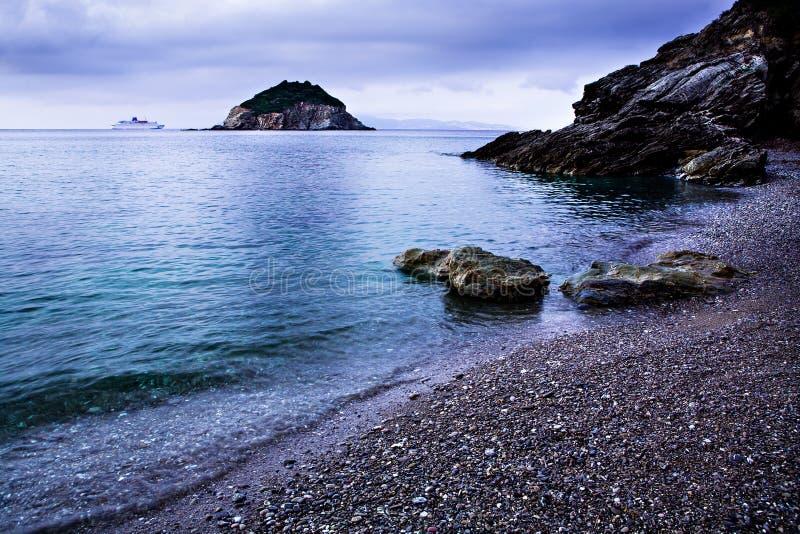 Frugoso beach stock photo