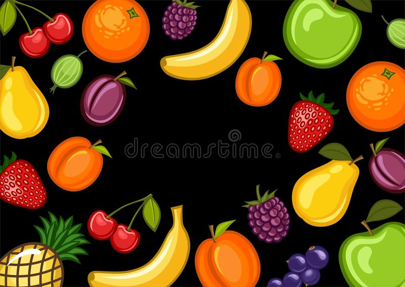 Download Fruit stock vector. Image of peach, berry, apple, lifestyle - 13503828