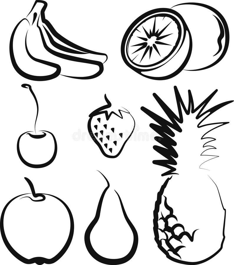 Download Fruit stock vector. Image of pear, orange, banana, lime - 15562697