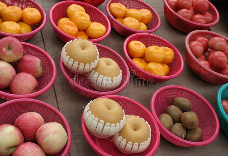 Fruit. Bowls of fruit stock images