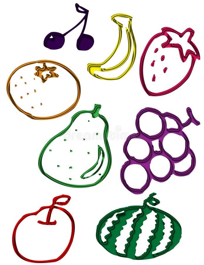 Download Fruit stock illustration. Illustration of colors, apple - 25248525