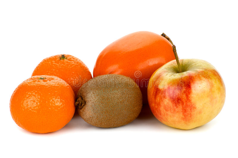 Fruit. Collection fruit on white background stock photo