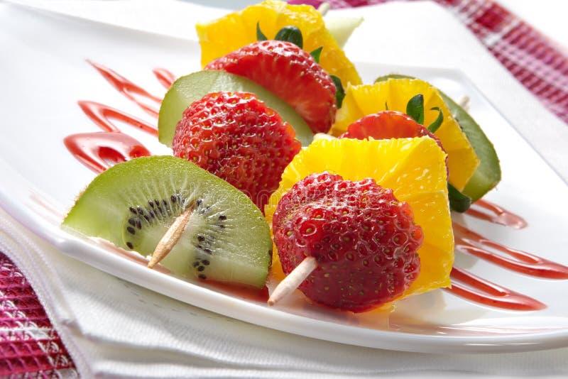 Download Fruit allsorts on skewers stock photo. Image of diet, gourmet - 2185668