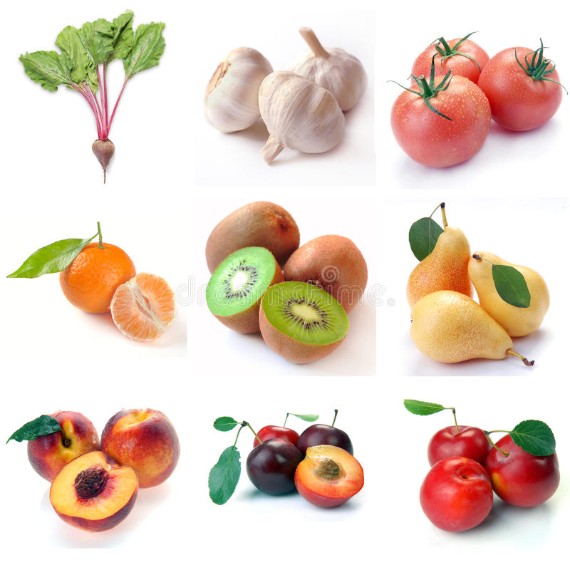 Fruit & groenten royalty-vrije stock afbeelding