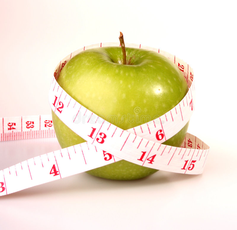 Fruit - Apple isolated. The apple fruit is good for health royalty free stock photos