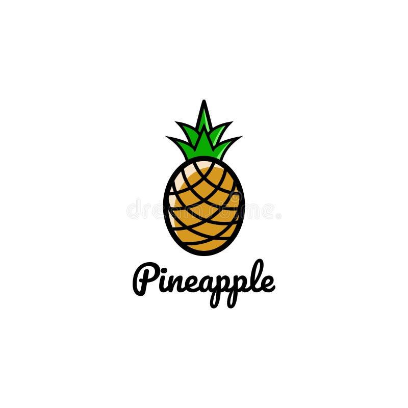 Fruit artistique créatif Logo Symbol Design Illustration d'ananas illustration de vecteur