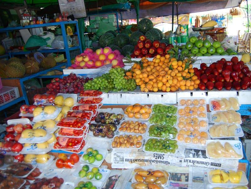 Thai fruit market stock images