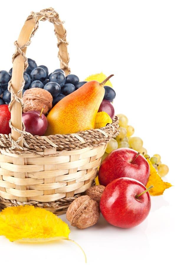 Fruit automnal dans le panier photo libre de droits