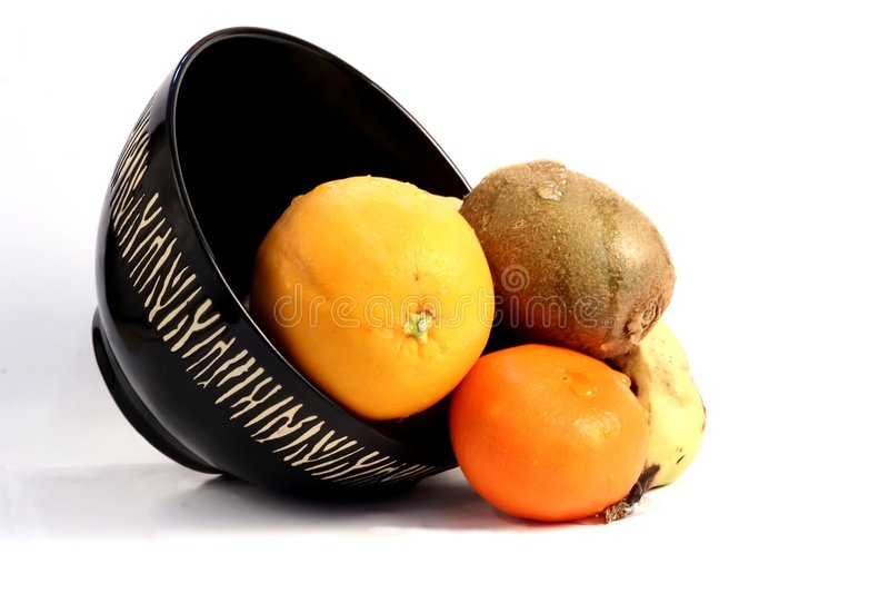 Fruit avec la cuvette africaine de thème photos libres de droits