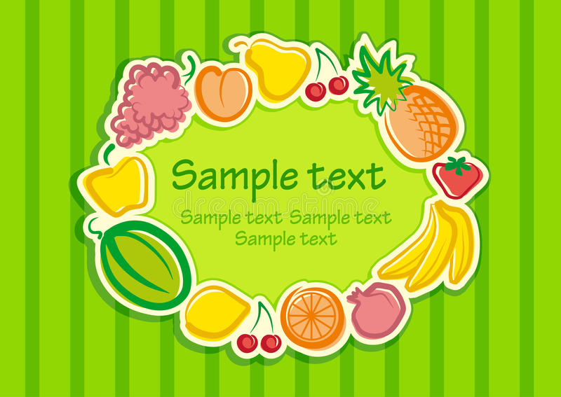 Download Fruit background stock vector. Image of eating, cherry - 18937547