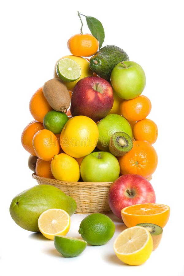 Download Fruit basket stock photo. Image of lemon, avocado, lime - 12353036