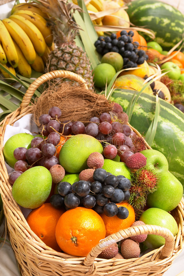 Free Fruit Basket 2 Royalty Free Stock Photography - 119407