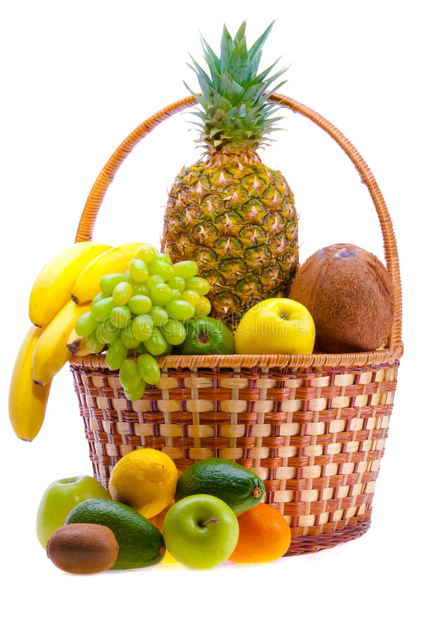 Download Fruit basket stock image. Image of abundance, market - 25343801
