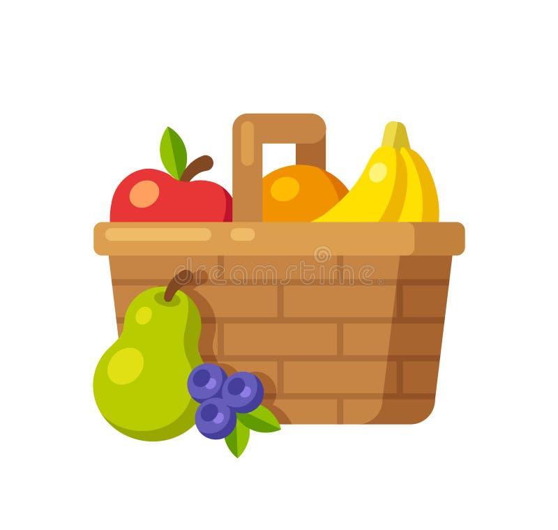Fruit Basket Stock Vector. Illustration Of Ripe, Organic