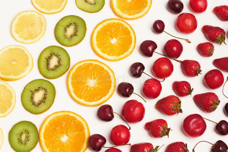 Fruit and berries royalty free stock photos