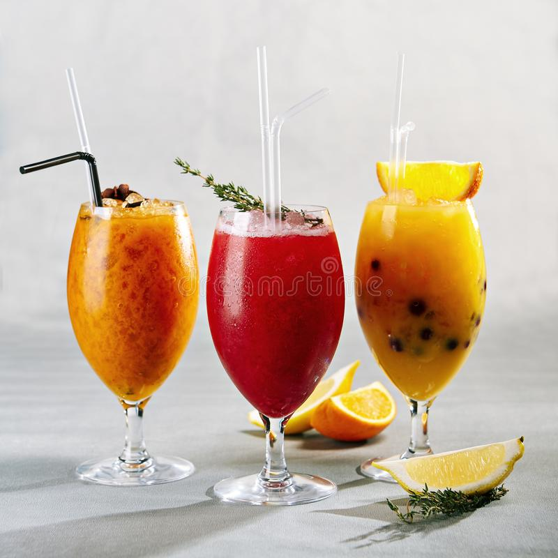 Lemonades Drink with Fruit and Berries stock photography