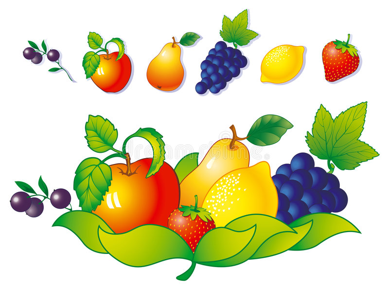 Download Fruit and berry stock vector. Illustration of clipart - 3278418