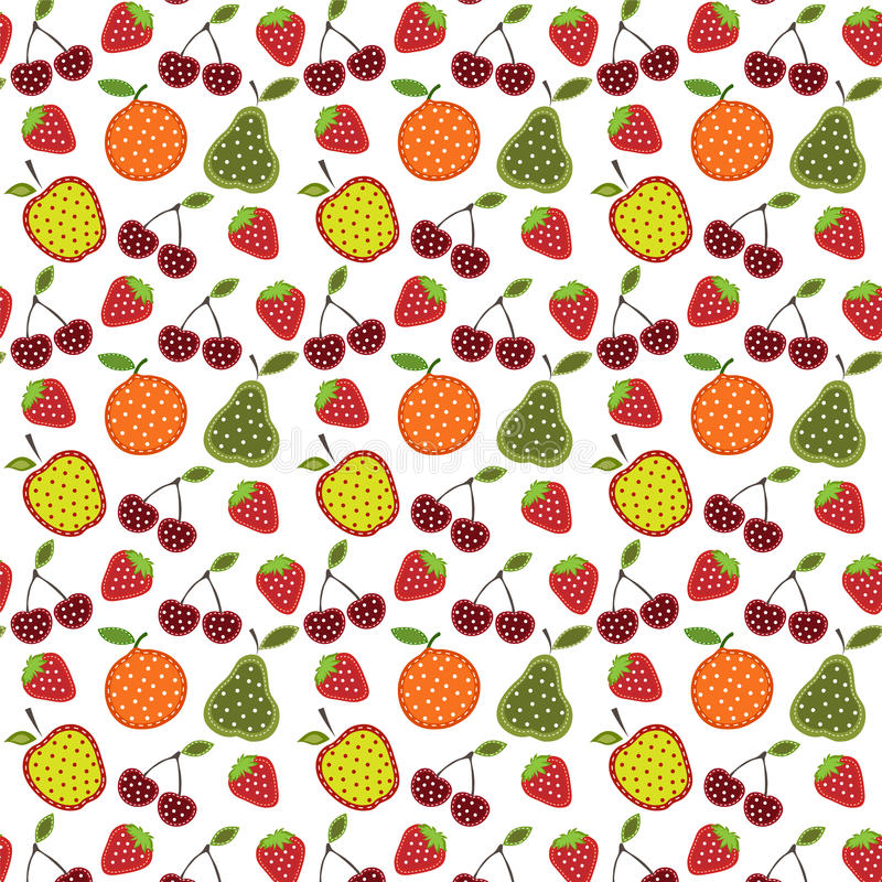 Fruit and berry pattern royalty free illustration