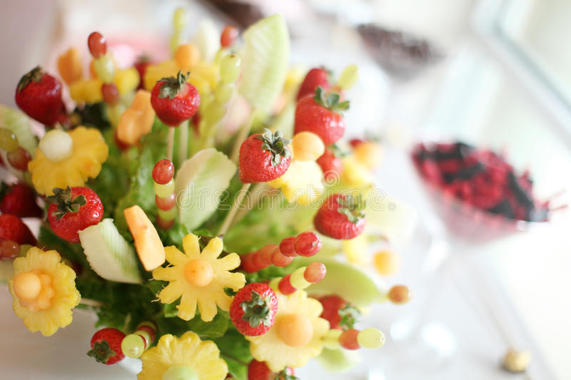 Fruit bouquet royalty free stock photography