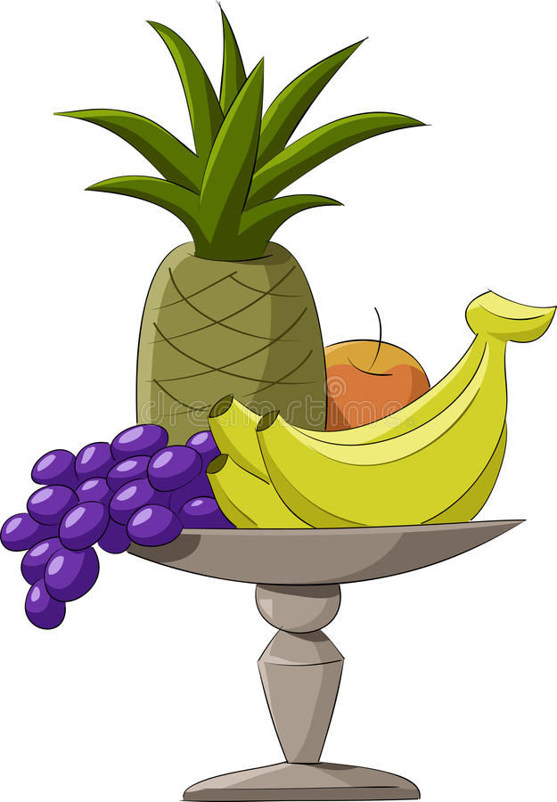 Fruit bowl royalty free illustration