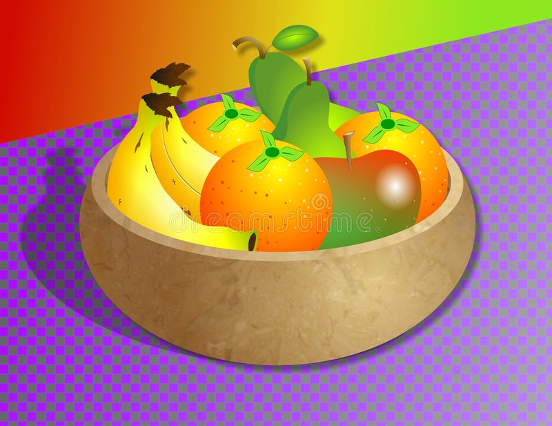 Fruit Bowl vector illustration