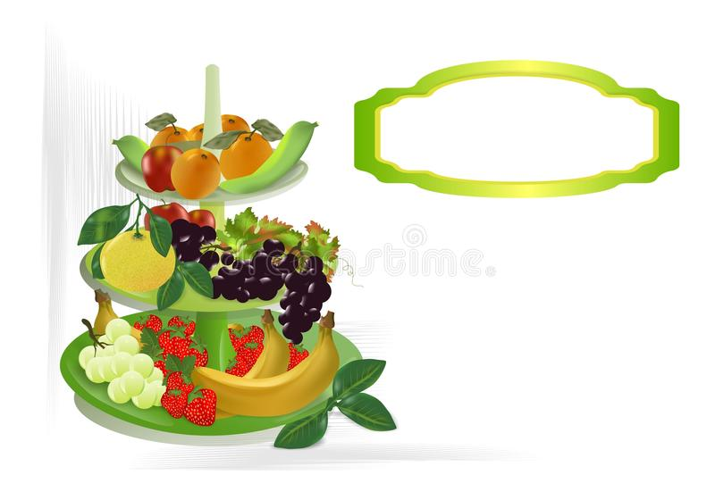 Fruit bowl, cdr vector royalty free stock photo