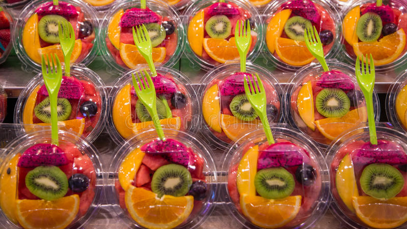 Fruit Bowls for Sale at Market royalty free stock photo