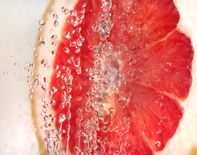 Fruit with bubbles stock photo
