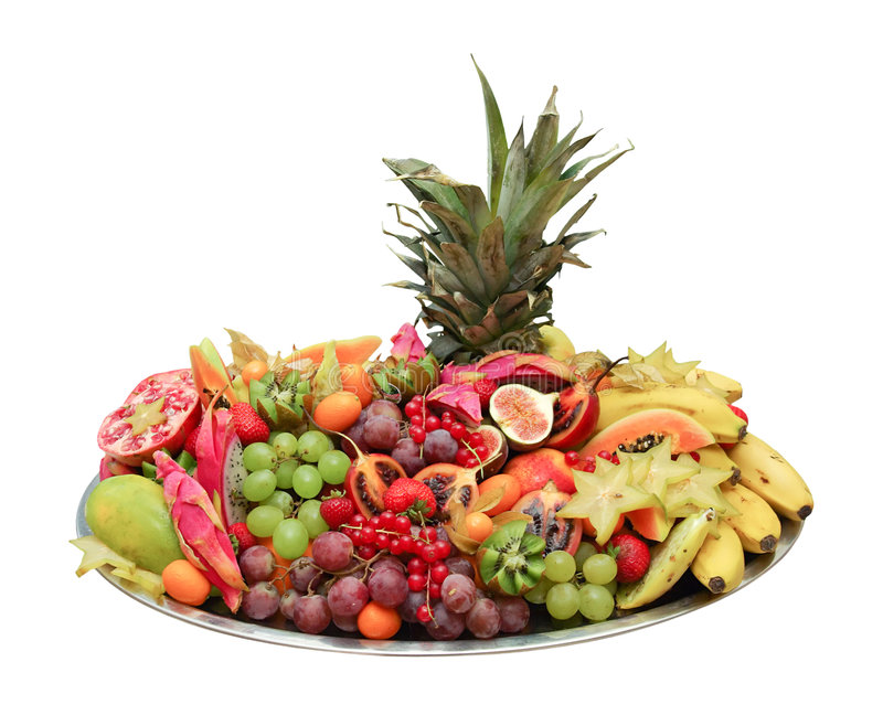 Fruit buffet platter royalty free stock images