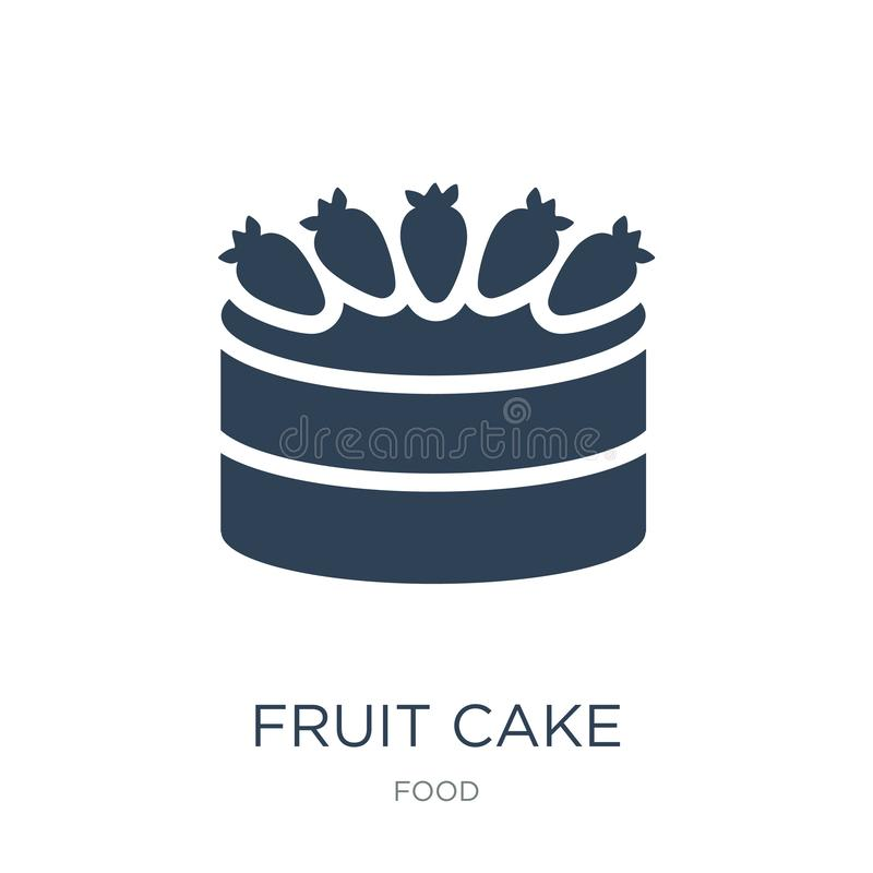Fruit cake icon in trendy design style. fruit cake icon isolated on white background. fruit cake vector icon simple and modern. Flat symbol for web site, mobile stock illustration