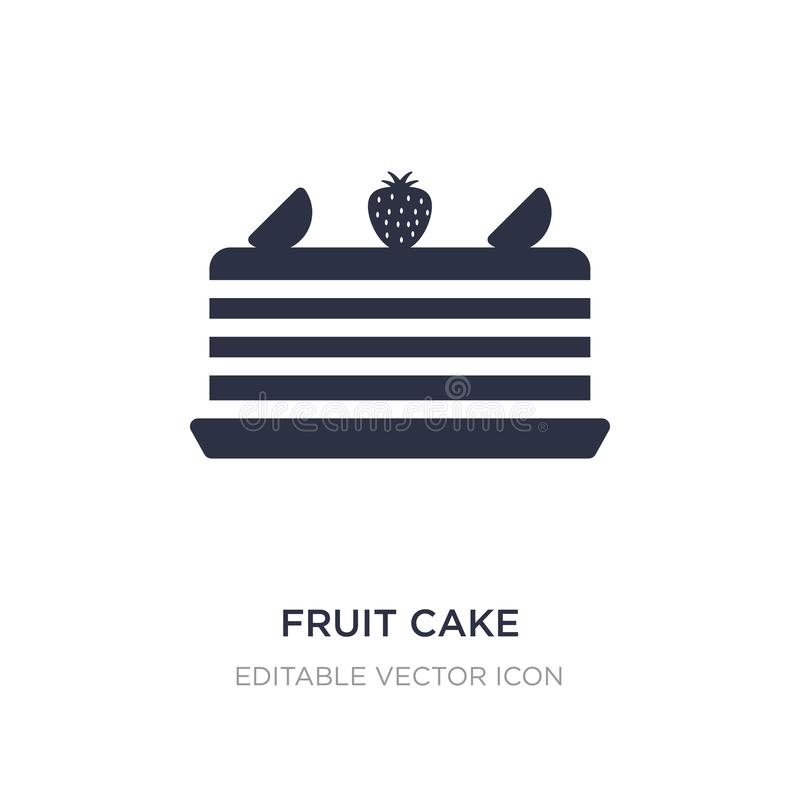 Fruit cake icon on white background. Simple element illustration from Food concept. Fruit cake icon symbol design vector illustration