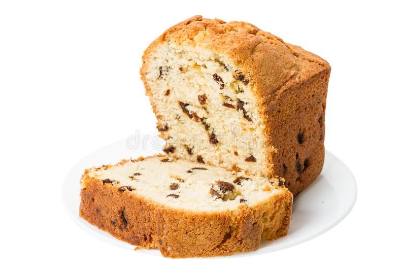Fruit-Cake on white stock images