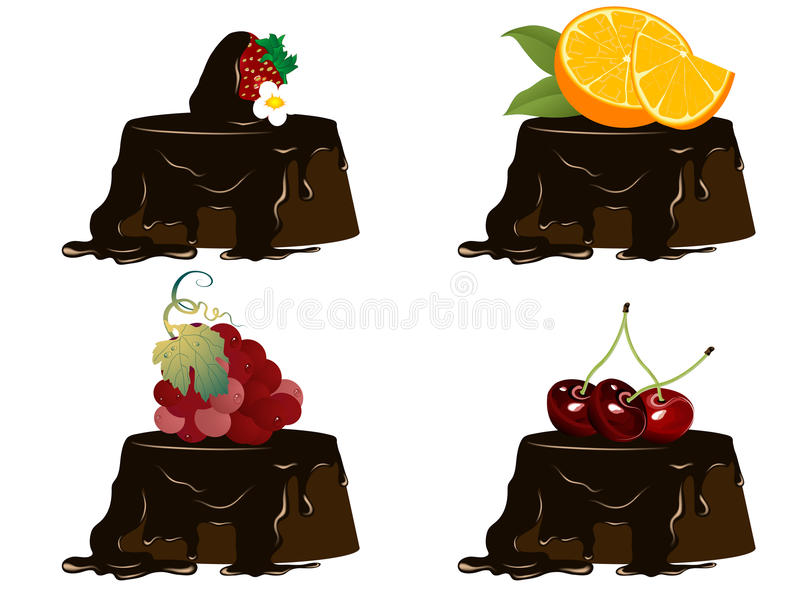 Download Fruit cakes stock vector. Illustration of anniversary - 31923976