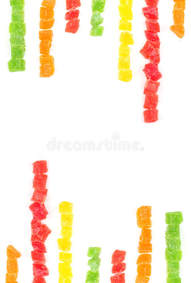 Download Fruit Candy Multi-colored On White Stock Photo - Image: 26641404