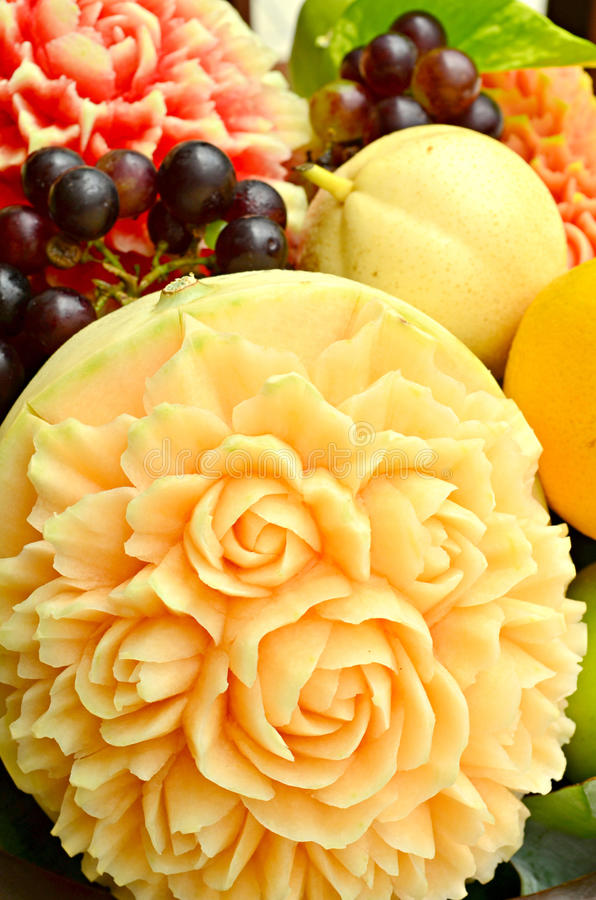 Fruit carving stock photo image of beautiful melon