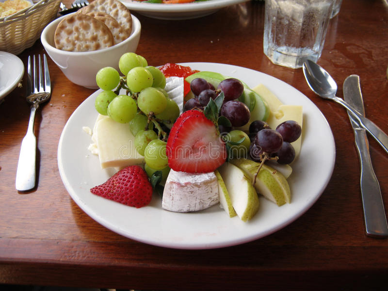 Download Fruit And Cheese Plate On Table Stock Photo - Image of american appetizing & Fruit And Cheese Plate On Table Stock Photo - Image of american ...