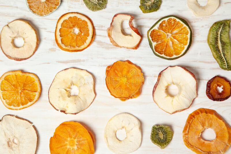 Fruit chips royalty free stock photography