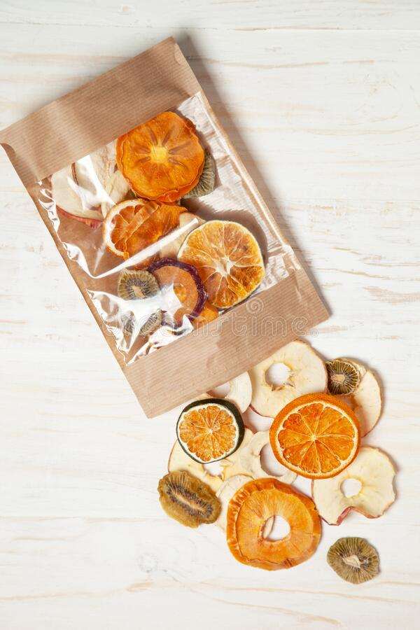 Fruit chips royalty free stock photos