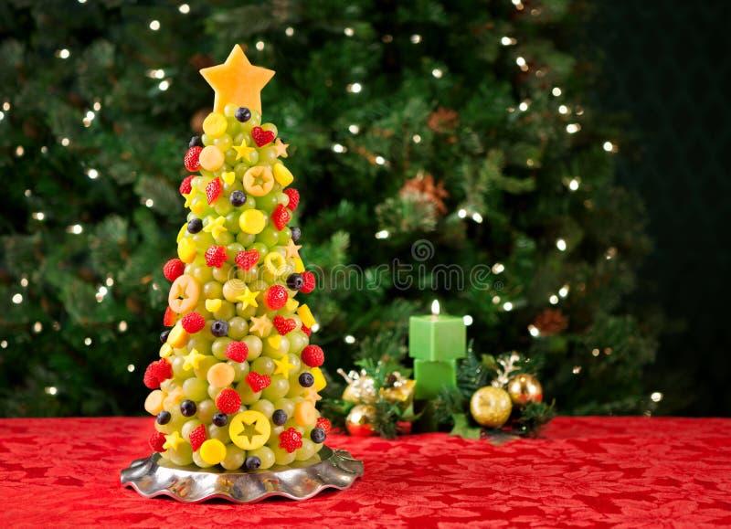 Fruit Christmas tree royalty free stock photography